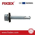 Hex head self-drilling screw with EPDM washer,Taiwan quality